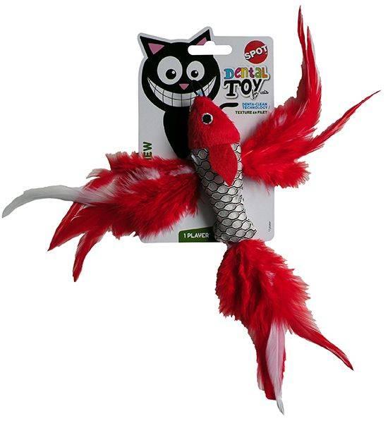 Produktbild: Catnipfisk dental toy (kan hängas på spö)