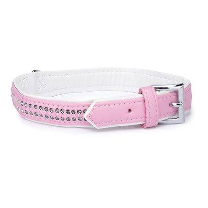 Produktbild: Hund Halsband rosa strass
