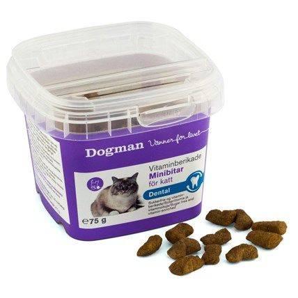 Produktbild: Kattgodis Dentala Minibitar sockerfria och vitaminberikade