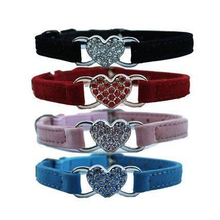 Produktbild: Katthalsband Hjärta Blå