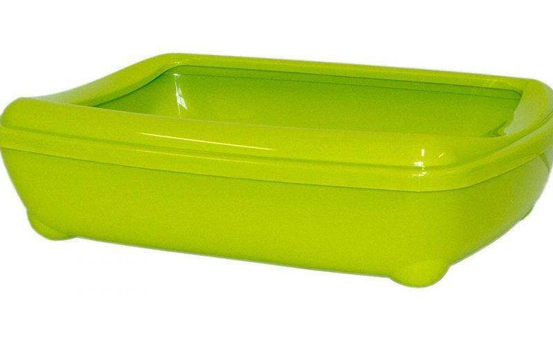 Produktbild: Kattlåda med sprättkant limegrön