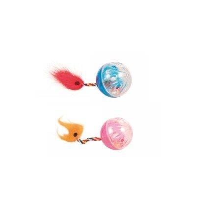 Produktbild: Kattleksak Boll med svans 2st