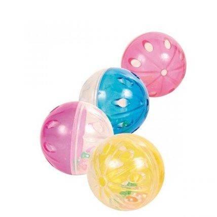 Produktbild: Kattleksak Plastboll med skrammel