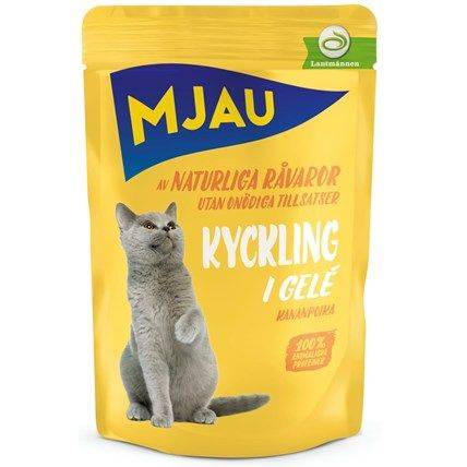 Produktbild: Kattmat Mjau Kyckling i gelé 85g