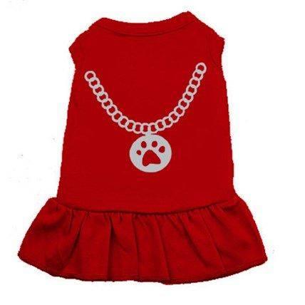 Produktbild: Klänning smycke Röd M