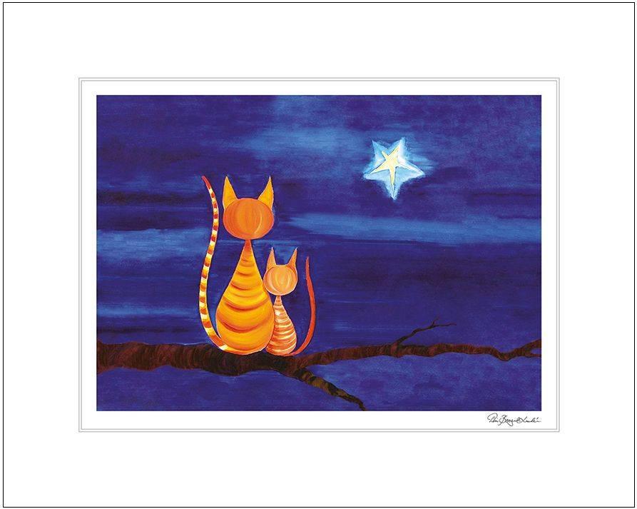 Produktbild: Konsttryck Önska katter (till tavla)