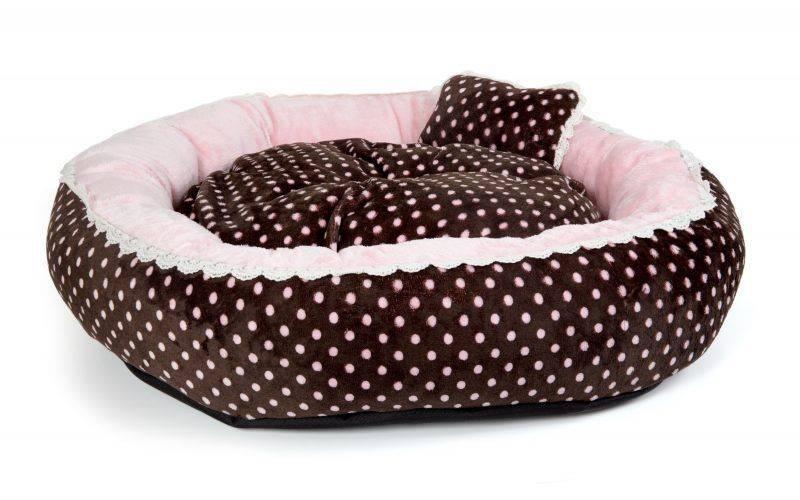 Produktbild: Mjuk VELOUR POLKA RING BED - Pink