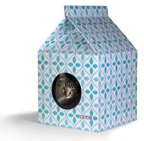 Produktbild: Petbo blå kartonghus