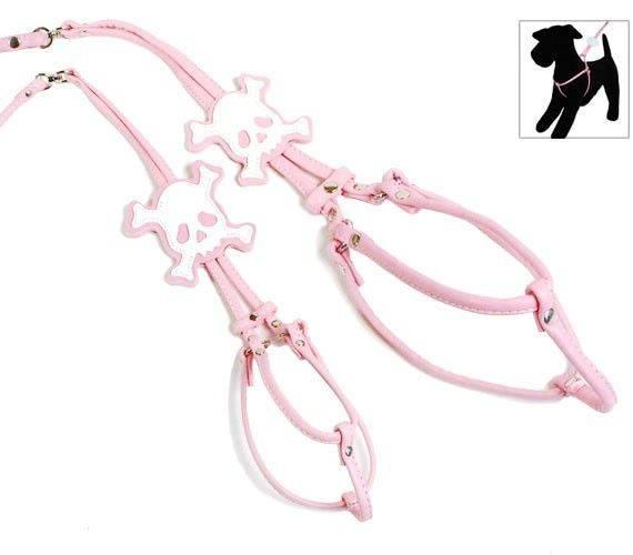 Produktbild: Pink Skull step-in Harness & Lead