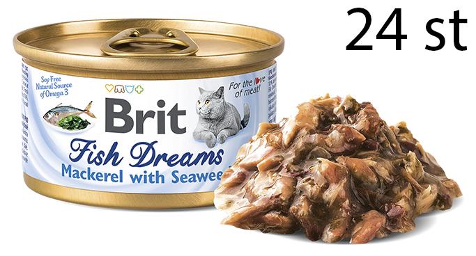 Brit Fish Dreams Mackerel & Seaweed 24-Pack