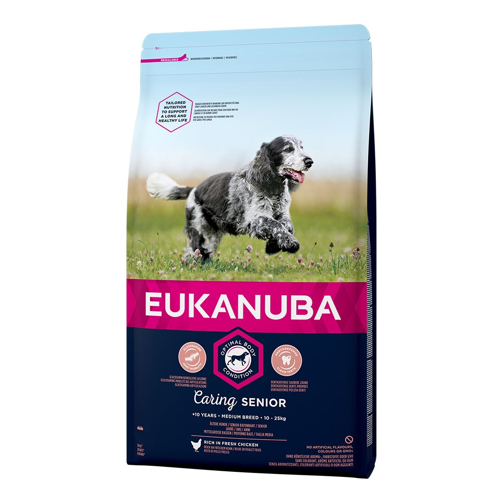 Eukanuba Caring Senior Medium Breed 15 Kg