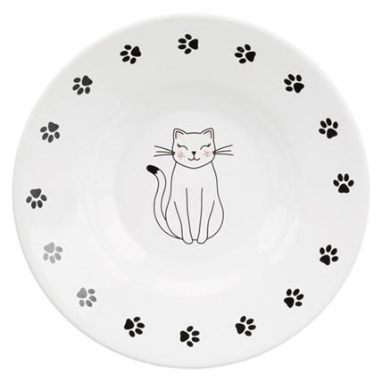 Flat Kattmatskål För Kortnosiga