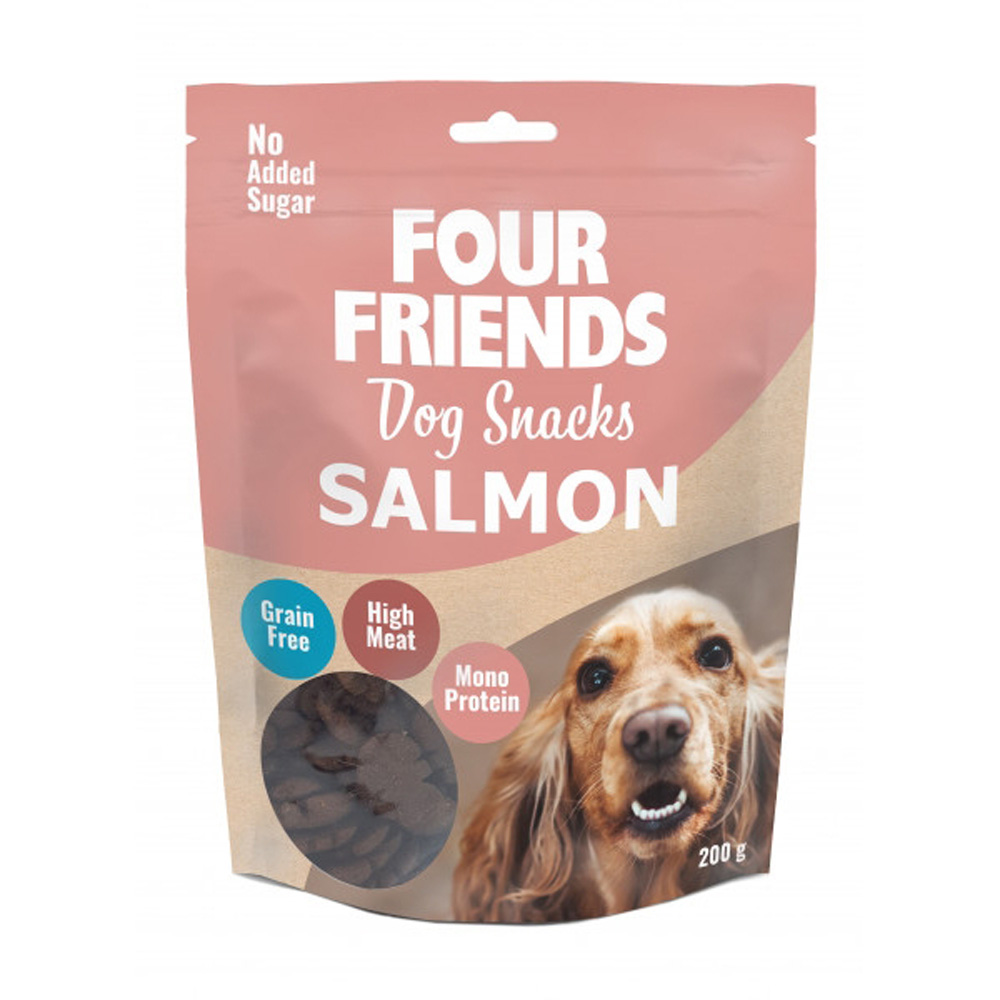 Four Friends Dog Snack Salmon 200 G