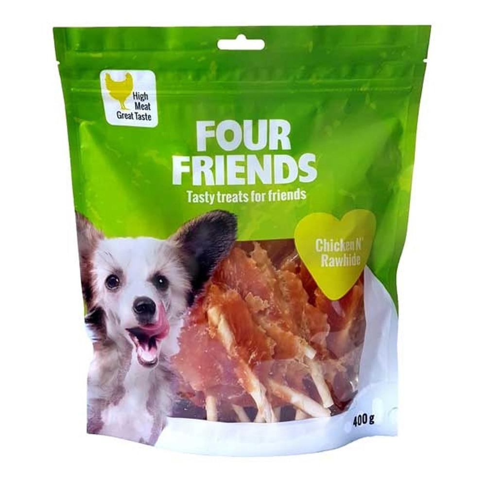 Fourfriends Dog Chicken N Rawhide 400 G