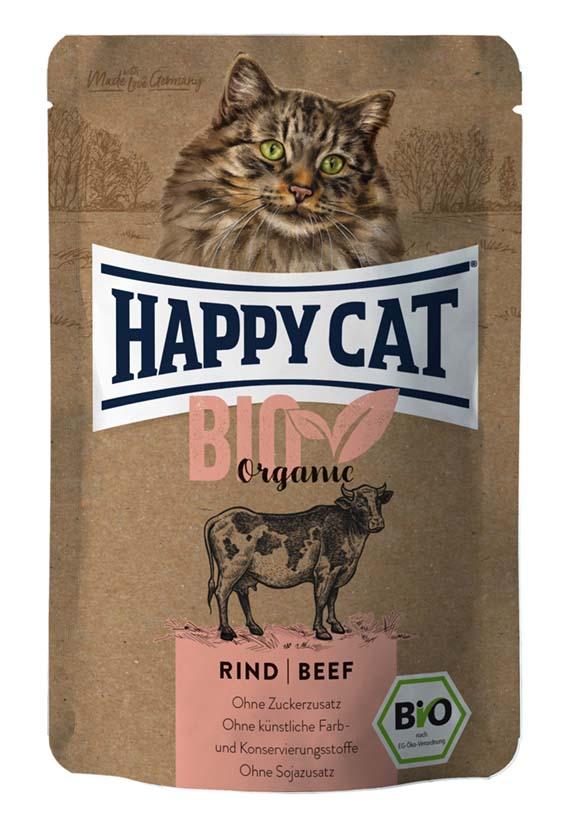 Happycat Portionspåse Eko Oxkött