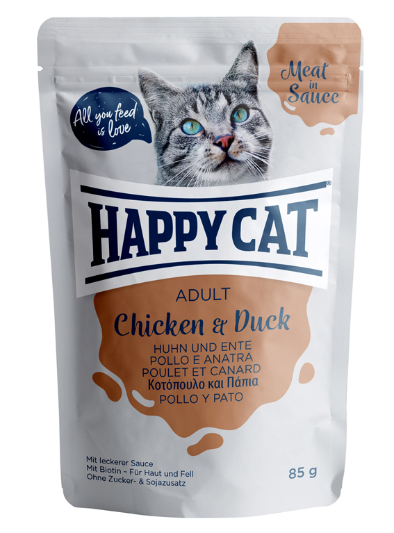 Happycat Portionspåse Kyckling & Anka