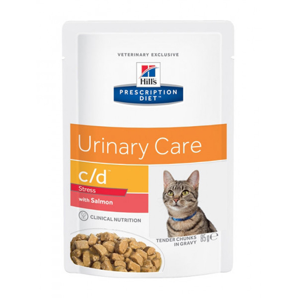 Hills Diet Cat C/D Urinary Stress Sa. Pouch 12X85G