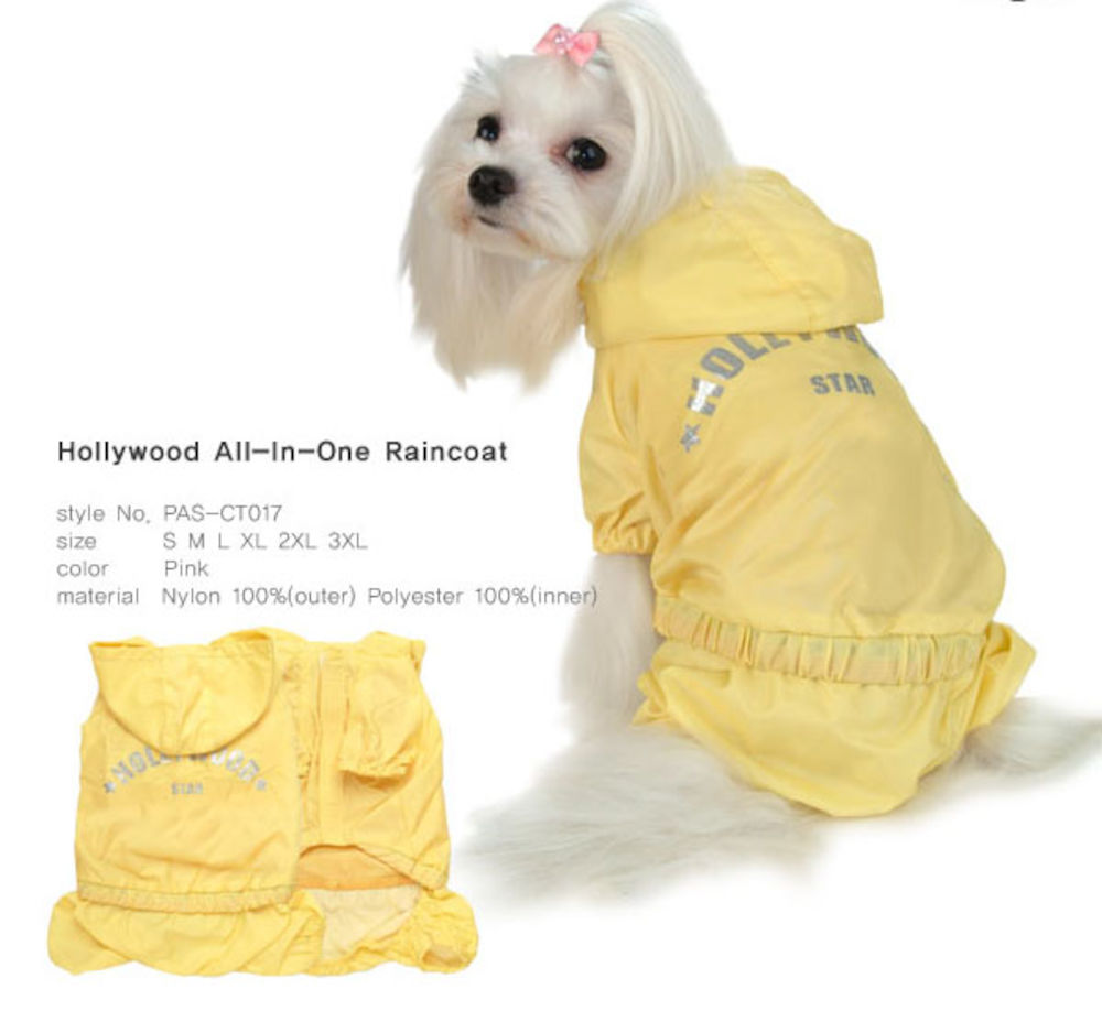 Hollywood All-In-One Raincoat - Yellow