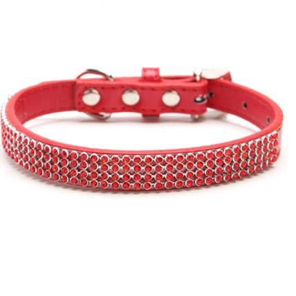Hundhalsband Röd Strass