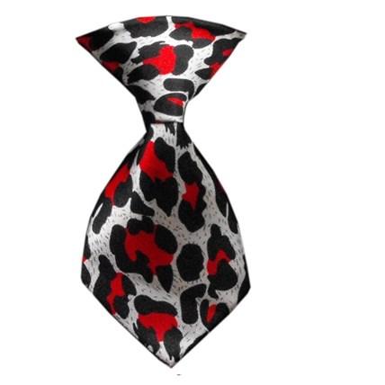 Hundslips Leopard Röd
