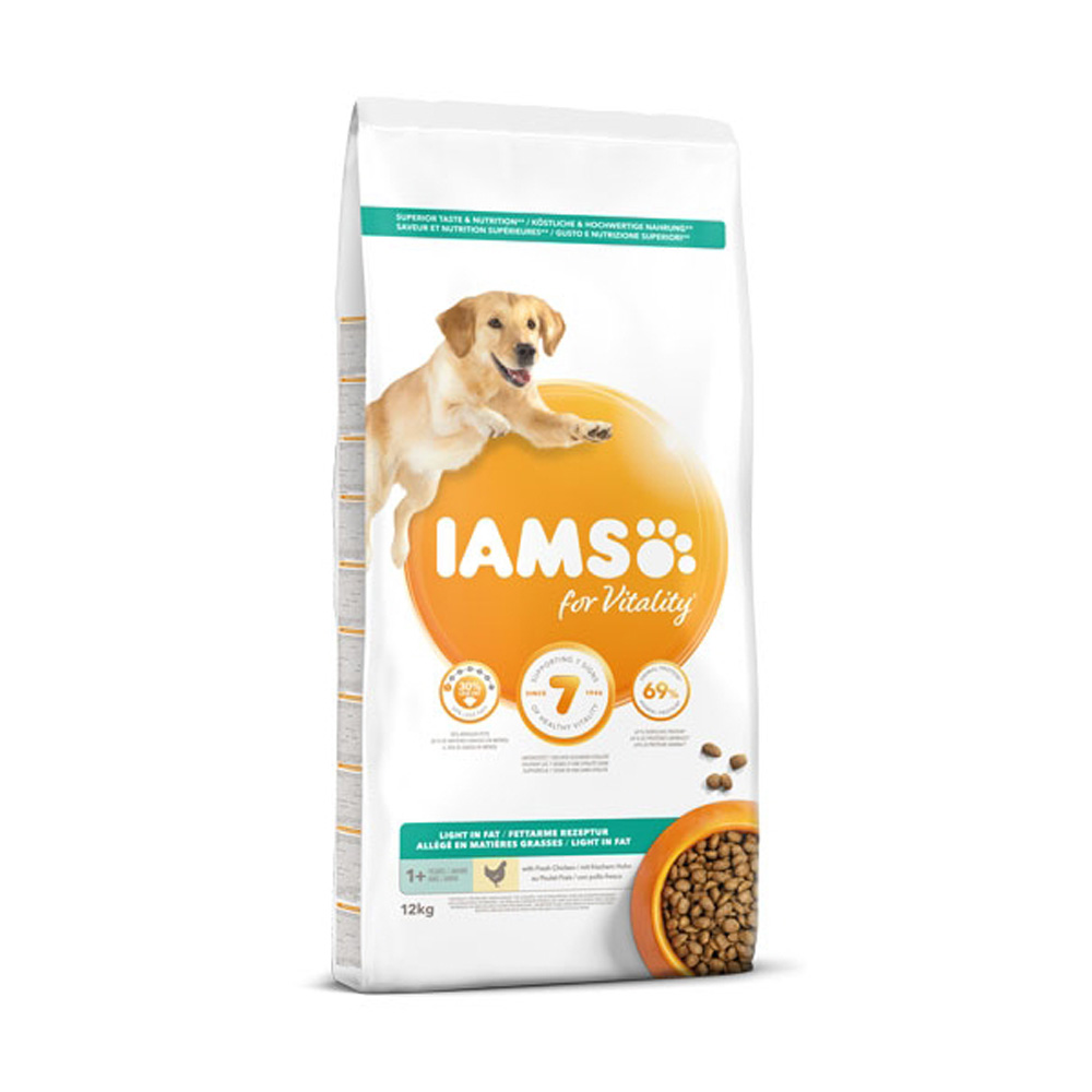 Iams For Vitality Dog Adult Light In Fat Chicken