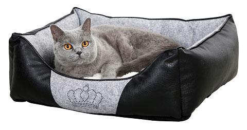 Kattbädd Crown Svart Grå