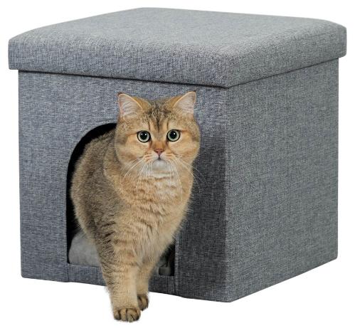 Kattbox Alois Grå