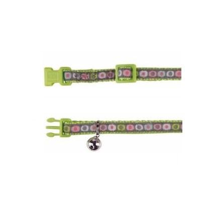 Katthalsband Färgglatt Med Cirklar Grön