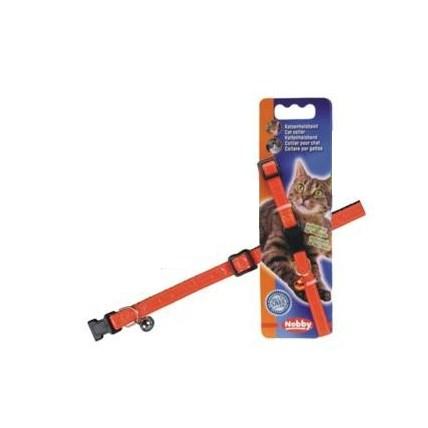 Katthalsband Orange/Röd Nobby