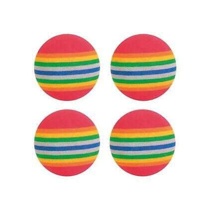 Kattleksak 4-Pack Regnbågsbollar