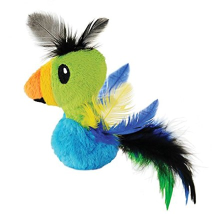 Kattleksak Energize Petstages Feather Toucan