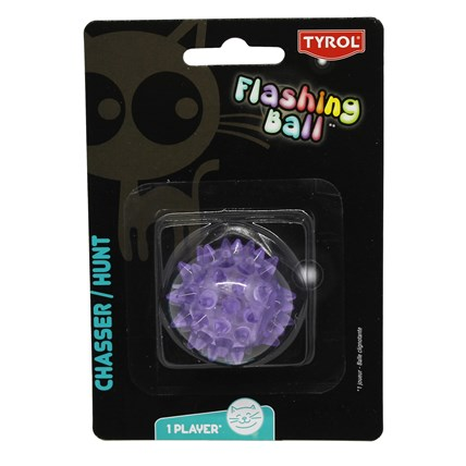 Kattleksak Flashing Ball Lila