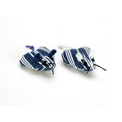 Kattleksak Hjärtmus Navy Stripe 2-Pack