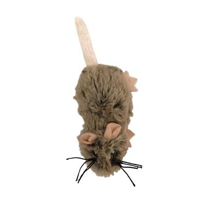Kattleksak Ljusbrun Plyschråtta Med Kattmynta