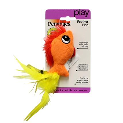 Kattleksak Petstages Feather Fish 90027