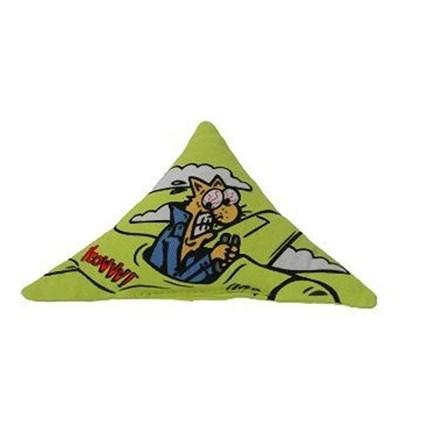 Kattleksak Yeowww Triangelkudde Grön