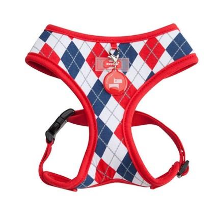 Kattsele Puppia Soft Harness Rutig Med Rött S