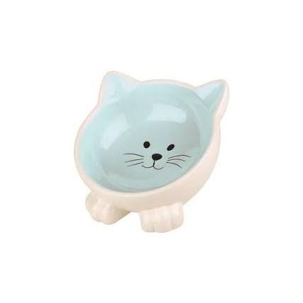 Keramikskål Blå Kattansikte