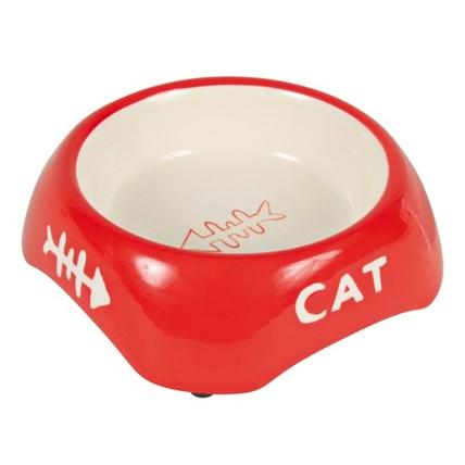 Keramikskål Cat Röd 24498