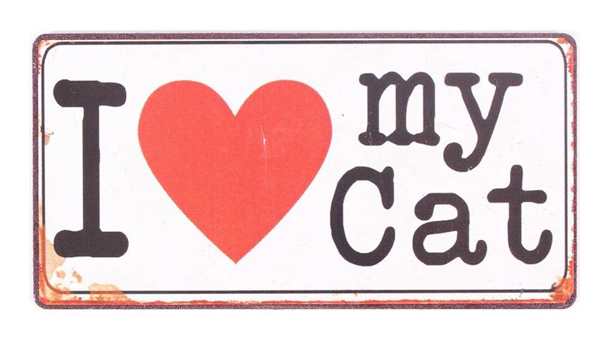 """Kylskåpsmagnet """"I Love My Cat"""""""