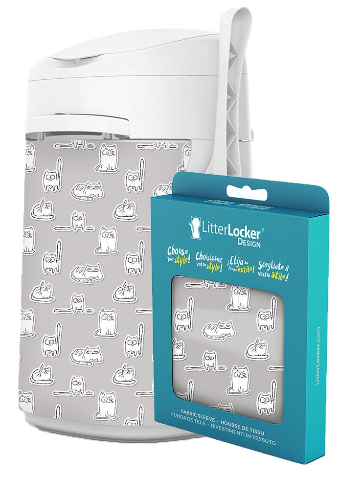 Litter Locker Designöverdrag Papercats