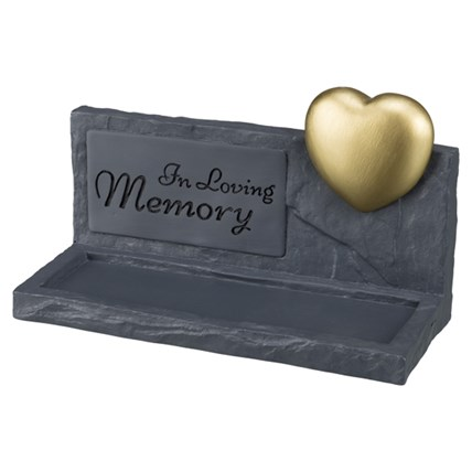 Minnessten Memory Grå Med Hjärta