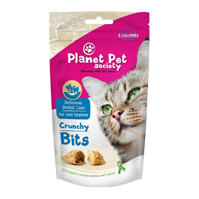 Planet Pet Society Crunchy Bits Dental Care 40 Gram