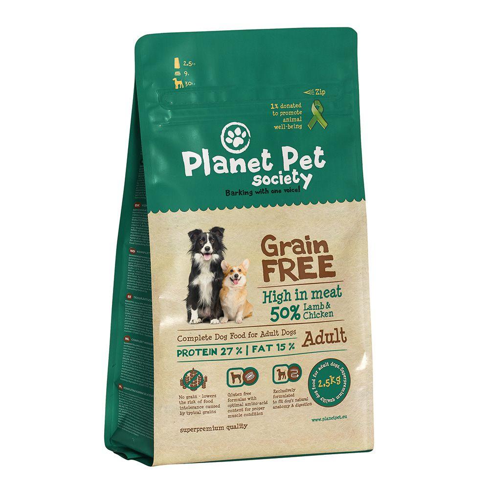 Planet Pet Society Grain Free Lamb & Chicken 12 Kg