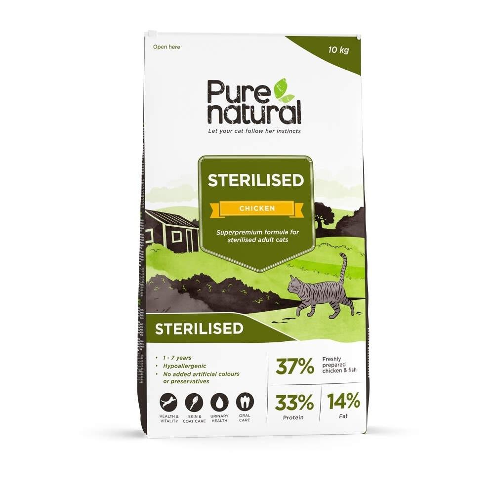 Purenatural Cat Sterilised Adult Chicken 10 Kg