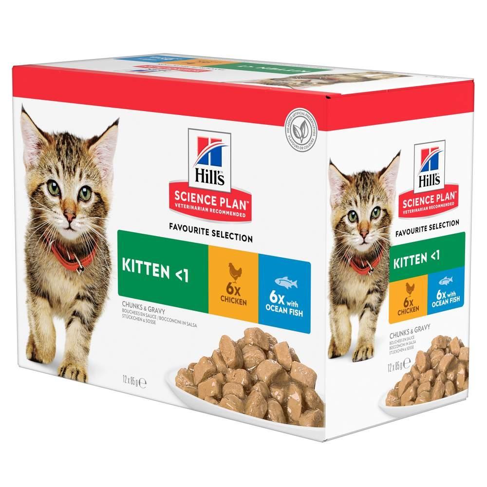Science Plan Kitten Våtfoder Med Kyckling&Havsfisk 12X85G