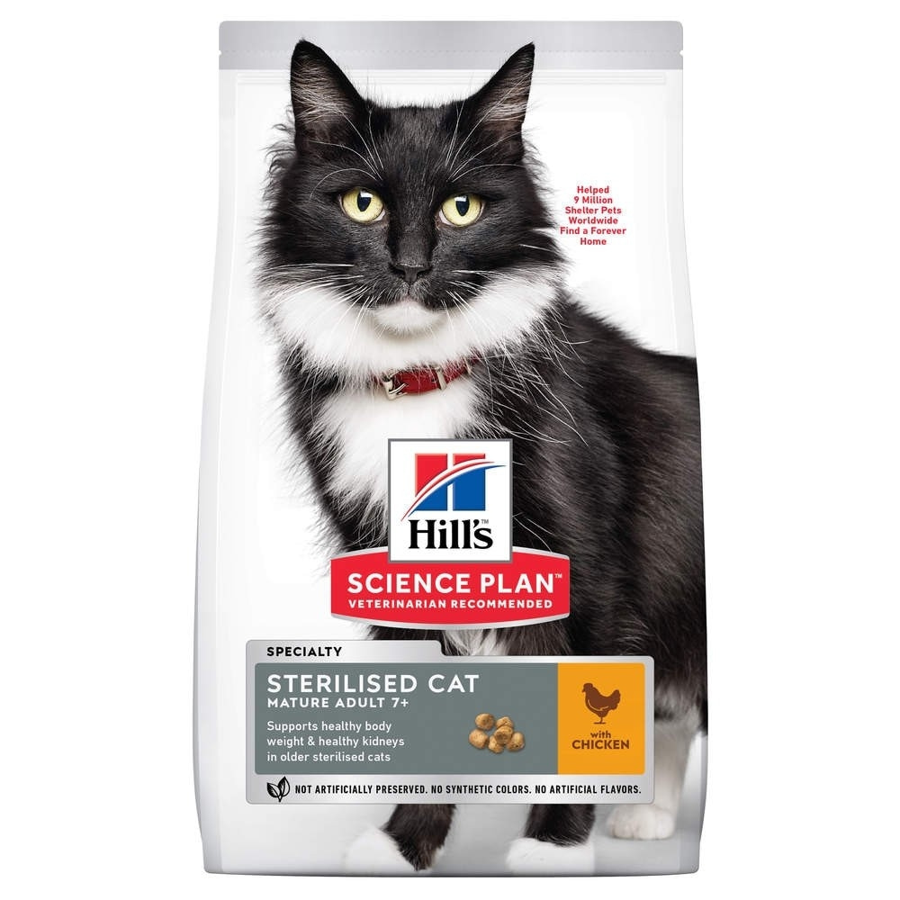 Science Plan Mature Sterilised Cat Med Kyckling 3 Kg