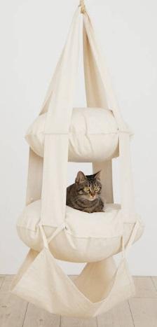 The Cat'S Trapeze Naturvit Bomull - 2 Våningar