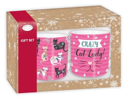 Xmas Gift Box - Rosa Kattmuggar