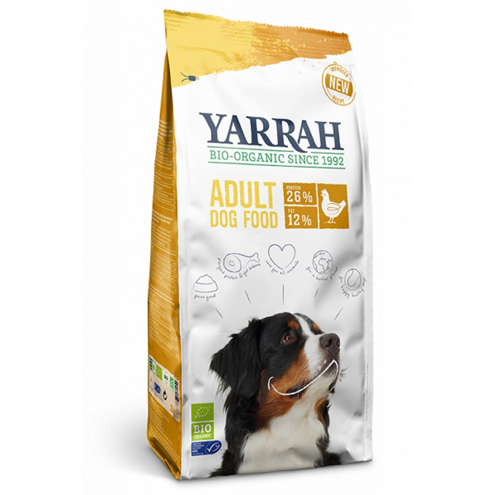 Yarrah Organic Dog Adult With Chicken 10 Kg